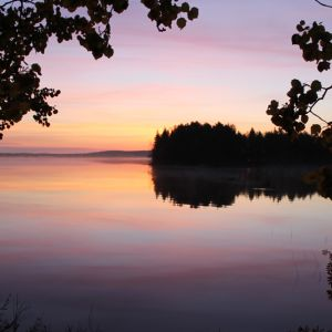 Auringonnousu Simojärvellä