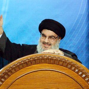 Hizbollahin johtaja Sayyed Hassan Nasrallah kuvattuna heinäkuussa 2014.