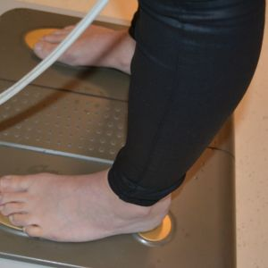 Kehon koostumuksen mittaamista.