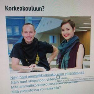 Opintopolku.fi -sivu netissä.