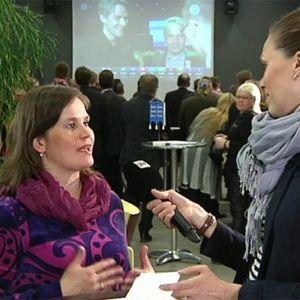 Mirja Vehkaperä Sanna Kähkösen haastattelussa Oulun vaalipiirin nettilähetyksessä