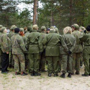 Maanpuolustuskurssi Rovajärvi elokuu 2015.