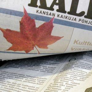 Sanomalehti Kaleva ilmestyy Oulussa.