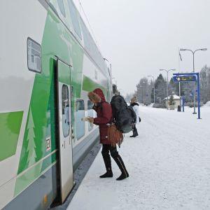 Rovaniemi, VR, juna, rautatieasema