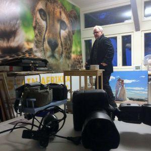 Valokuvaaja Juha Laitalaisella on oma työhuone Hietsun paviljongissa.