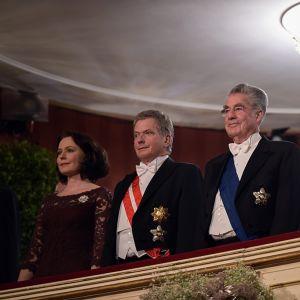 Niinistö vierailee Wienissä puolisonsa rouva Jenni Haukion kanssa Fischerin kutsumana.