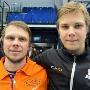 Petri (vas.) ja Jere Kemppainen