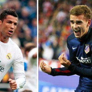 Ronaldo ja Griezmann kohtasivat toukokuussa Mestarien liigan finaalissa. Saako ranskalainen nyt revanssinsa?