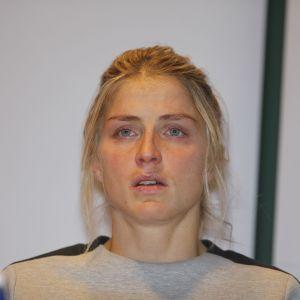 Therese Johaug kertoo dopingrikkeestään lehdistötilaisuudessa.