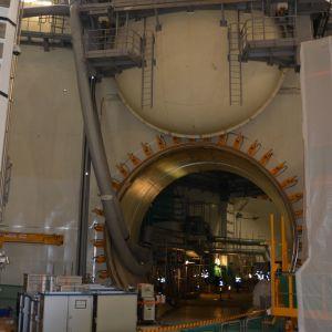 ydinvoimalan rakennustyömaa