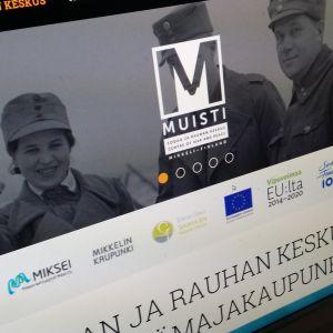 Sotahistoriakeskuksen verkkosivut.