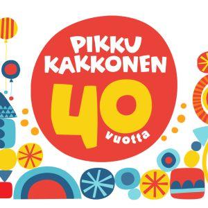 Grafiikka Pikku Kakkosen 40-vuotisjuhlasta.