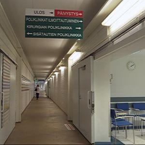 Pohjois-Kymen sairaalan käytävä