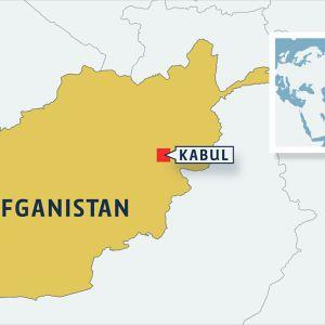 Afganistanin kartta jossa Kabul