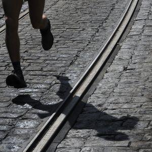 Maratoonarin jalat.