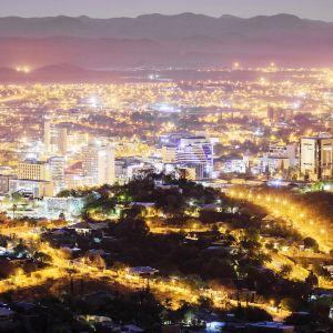 Namibian pääkaupunki Windhoek.