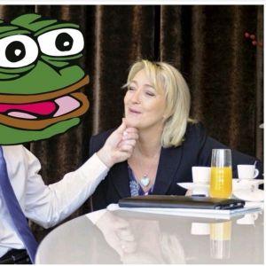 Vihreästä sammakosta on tullut myös ranskalaisen äärioikeiston symboli. Presidenttiehdokas Le Penistä ja Pepe the Frogista levitetään innokkaasti nettimeemejä.