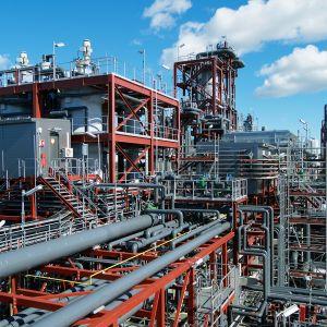 Biopolttoainetehdas Lappeenrannassa.