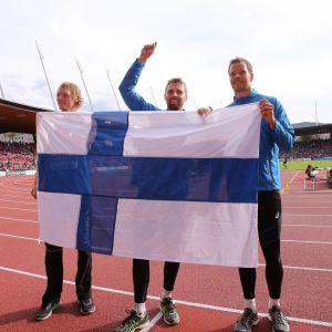 Lassi Etelätalo, Antti Ruuskanen ja Tero Pitkämäki Zürichissa 2014.