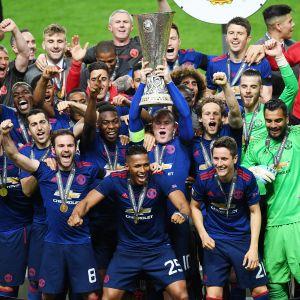Manchester United juhlii.