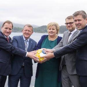 Pohjoismaiden pääministerit.