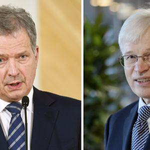 Sauli Niinistö ja Bengt Holmström.
