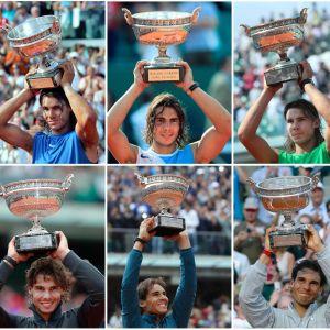 Rafael Nadal on voittanut Ranskan avointen mestaruuden kymmenen kertaa. Espanjalainen on nostanut pokaalin Roland Garrosilla ilmaan vuosina 2005, 2006, 2007, 2008, 2010, 2011, 2012, 2013, 2014 ja nyt 2017.