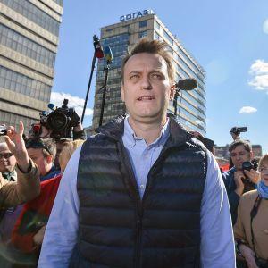 Aleksei Navalnyi mielenosoituksessa Moskovassa 14. toukokuuta.