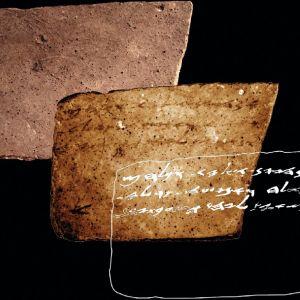 Savenpalasen etu- ja takapuoli ja auki kirjoitetut tekstirivit.