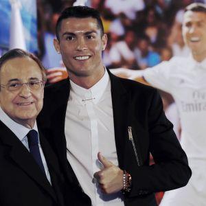 Real-pomo Florentino Perez ja Cristiano Ronaldo.