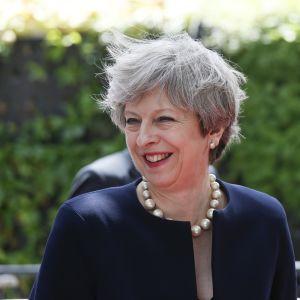 Britannian pääministeri Theresa May saapui EU-huippukokoukseen 22. kesäkuuta.
