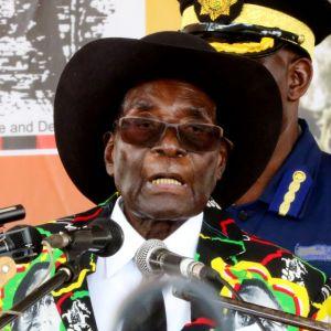 Zimbabwen presidentti Robert Mugabe 25. helmikuuta 2017.