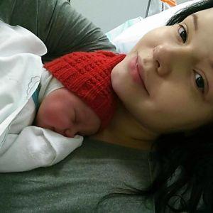 Suvi Hakkarainen synnytyksen jälkeen