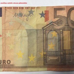 Väärä 50 euron seteli