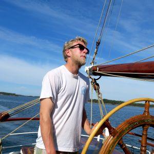 Jakob Fremgen purjealus Morngesterin ratissa
