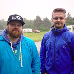 Lomakylien mukaan kesämatkailu Lapissa on hienoisessa kasvussa. Annti Rintalan ja Juho Vuontisvaaran yritys Camping Nilimella  Sodankylässä 18.7.2017.
