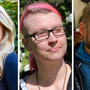 Marin Vaasasta, Mira Jaskari ja Juha Järvinen.