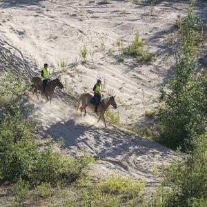 Maastoratsastusta Kajaanissa