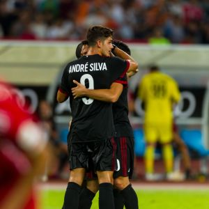AC Milanin pelaajat pääsivät juhlimaan maalia neljästi harjoitusottelussa Bayern Münchenia vastaan.