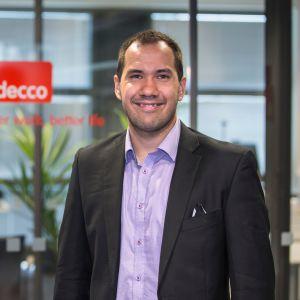 Joshua Moorrees vietti kesän alussa kuukauden Adecco Finlandin toimitusjohtajana.