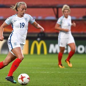 Englannin maajoukkueen hyökkääjä Toni Duggan.