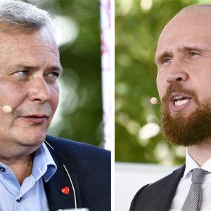 Antti Rinne ja Touko Aalto.