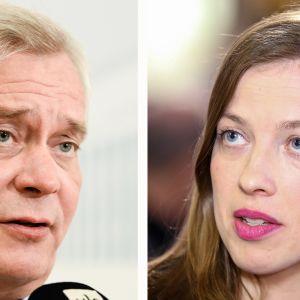 Antti Rinne ja Li Andersson.