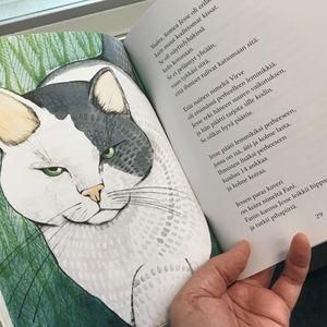 Kissatalon asukit -kirjan kuvitus on kuvittaja Marjo Nygårdin tekemä.