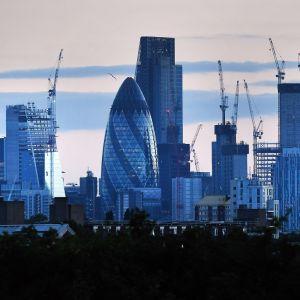 Lontoon kaupungin kuvaa.
