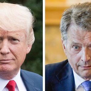 Donald Trump ja Sauli Niinistö.