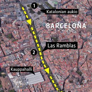 Barcelonan kartta.