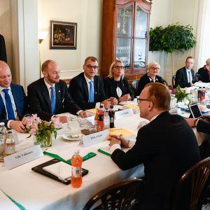 Hallituksen budjettineuvottelut Kesärannassa 30.08.2017.