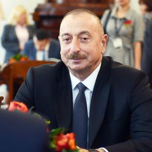 Azerbaidzhanin presidentti Ilham Aliyev.