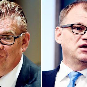 Timo Soini ja Juha Sipilä, kuvakombo.